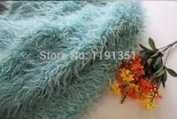 Wholesale Newborn Photography Carpet Baby Long Shag Faux Fur Basket Stuffer Blanket Photo Prop Backdrop Posing Blanket Satin cm