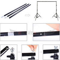 background support system - Photography Photo Studio Background Backdrop Support System x7 ft mx m with Two Non Waven White and Black Backdrops