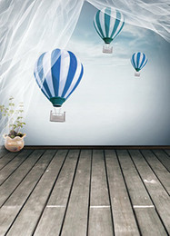 Wholesale CM CM backgrounds Hot air balloons fly pots curtains photography backdrops photo LK