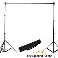 Wholesale NEW M Ft Adjustable Background Support Stand Photo Backdrop Crossbar Kit Photography Background support m ftx9 ft