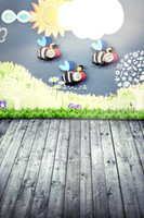 bees spray - CM CM fundo Bees sun grass3D baby photography backdrop background LK