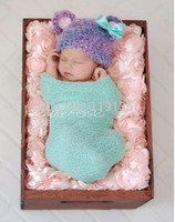 Wholesale Faux Fur Photo Props for Newborn Baby Photography Photo Props D rose Flower Backdrop Beanbag Blanket rug