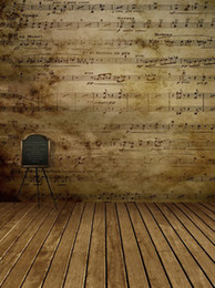 Wholesale backgrounds for photo studio background x7ft photography cloth backdrops Music classroom notes