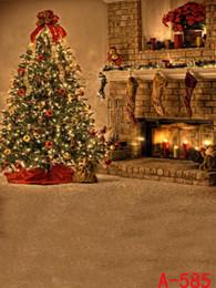 Wholesale-200cmx150cm muslin backdrop background Christmas tree candle socks christmas backdrops photography WSL 585