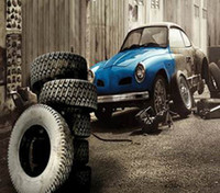 automobile painting - Y CM New arrival Automobile tire repair warehouse Cloth photography background