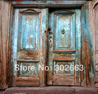 Wholesale backgrounds for photo studio background x7ft photography cloth backdrops wooden door xinrui mumen