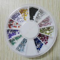 acrylic colour wheel - China Post Air Mail Acrylic Nail Rhinestones Gems Mixed design amp colour per wheel