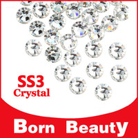 Wholesale Nail Art Rhinestone s pack SS3 Top Crystal Clear Flat Back No Hotfix Glue On Nail Supplies DIY Nail Decoration Tools