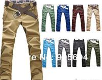Gros-2015 Loisirs Style Slim Fit New Fashion Designer Men Skinny Stretch jeans crayon Slacks mâles Long Pantalons Salopette