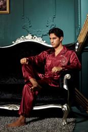 Wholesale-Free Shipping Men Silk pyjama Pajamas for nightshirts tracksuits dressing gown sleepwear Loungewear pyjamas men Men long sleeve