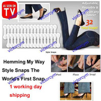Wholesale 20sets pairs set Hemming My Way Style Snaps Pant Hemming Strips The World s First Snap Hem