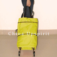 Cheap Wholesale-Free shipping Recyclable Folding shopping bag, foldable shopping trolley bag, portable shopping cart with wheel