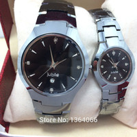 Wholesale full tungsten steel business casual top quartz watch dress men amp women wristwatches for lovers clock watches men luxury brand