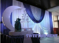 Wholesale A set Wedding Drape amp Pipe for Wedding Decoration Wedding Backdrop with Stainless steel Stand for Sale