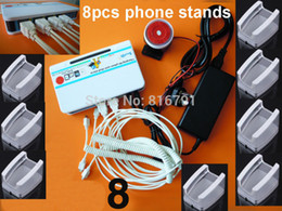 Wholesale Free Fedex Shipping ports Cell Phone Security Display Alarm system host mobile phone alert system master with Acrylic stand