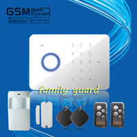 android free software - DHL Android IOS APP software GSM SMS RFID Touch alarm system home alarm system better than chuango G5 RFID tags