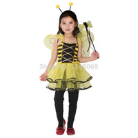 apparel shows - New Halloween Cosplay Children Show Clothing Yellow Bee Pupils Show Apparel Female