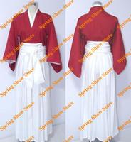 animations kimonos - Rurouni Kenshin Himura Kenshin Customized Red Kimono Uniform Animation Cosplay Costume