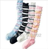 winter socks - Children sock princess piles of socks thin seersucker high socks girls knee cotton socks autumn and winter subsection