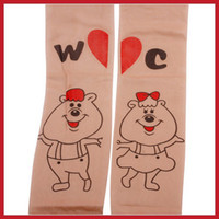 bamboo tattoos - top rated canmore Bear Pattern Cute Girls Transparent Tattoo Tights Stockings Pantyhose big discount