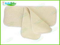 Wholesale AnAnBaby Hemp Inserts Organic cotton Layers Reusable Baby Cloth Diaper Pads Nappy Inserts