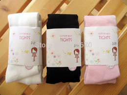 Wholesale Prs Quality baby girl kids solid color cotton ballet pantyhose tights children princess stocking panty hose XC