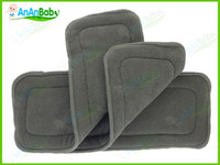 Wholesale High Absorbent Organic Bamboo Charcoal Insert Layers Diaper Liners for Babies set