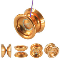 aluminum lucky - New Magic YoYo T8 Gold Aluminum Metal Professional Yo Yo Toys String Lucky