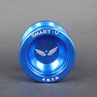 Wholesale New Magic YoYo flying phoenix bearing Alloy Aluminum Professional SmartU YO YO Blue Color