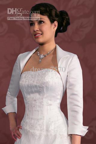 Online cheap sati bolero jacket for wedding dress gown for Bolero jacket for wedding dress