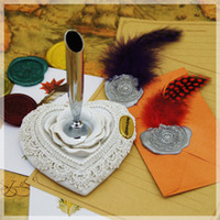 Wholesale Feather Pen Quill Pen Holder Classical Elegance Choose Resin Crystal Holder