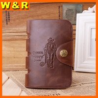 abs middle - New fashion Middle size man leather wallet casual hasp crazy horse leather men purse F239