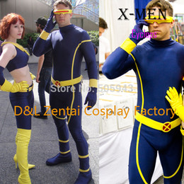 Discount female x men halloween costumes Wholesale,Free Shipping DHL 2015 Adult X, Men