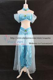Wholesale New Arrival Custom made Hot Sale Aladdin Jasmine Princess Cosplay Costume for Adults