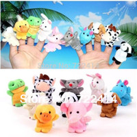 Cheap Wholesale-Free shipping 10pcs lot, Baby Plush Toy  Finger Puppets Tell Story Props(10 animal group) Animal Doll  Kids Toys  Children Gift