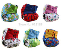 baby proof products - AIO Baby Cloth Diaper Cartoon Printed Baby Diapers Leak proof Urine Trousers Multi Color Comfortable Baby Product