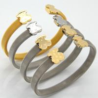 african bear - New Top Quality Kinds Of Styles Lovely Stainless Bear Bracelet Brand Women Fine Jewelry Fashion Bracelets Female Hot Sale