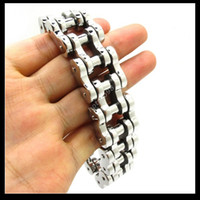 heavy bikes - Top Quanlity mm Huge Heavy Men s Motor Bike Chain Motorcycle Chain Bracelet Bangle L Stainless Steel Jewelry