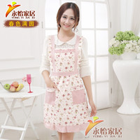 cotton apron - Fashion Korean sleeveless cotton apron women kitchen cooking aprons