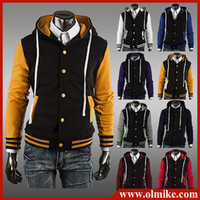 baseball asia - Men s Fashion Jackets Baseball Shirt Baseball Uniform Jacket for men Asia S XXL E016