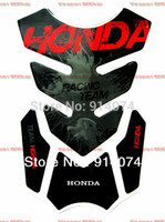 Wholesale Motorcycle Stickers Carbon Fiber Tank Pad TankPad Protector BLK