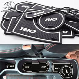 Wholesale Car anti slip mat gate slot door pad carpets Interior decoration accessories suitable for KIA Rio K2