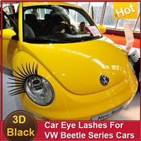 beetle auto - Car Auto Eye Lash D Funny Eyelashes Charming False Black Decal Decoration for VW Beetle Headlight Sticker