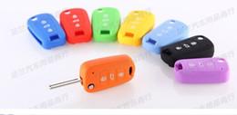 Promotion silicone couvre pour les télécommandes Vente en gros de silicone-Key Cover Car Keychain pour la télécommande pour KIA RIO 2015 K2 K5 Sportage R accessoires Forte de CERATO