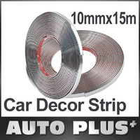 Cheap Wholesale-10mmx15m Car Decoration Sticker Car Chrome Styling Moulding Trim Strip Auto Body Window Exterior Accessories Tool