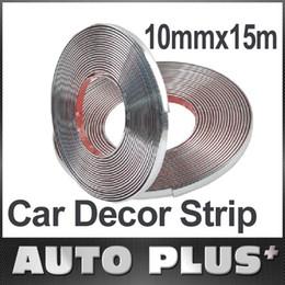 Wholesale mmx15m Car Decoration Sticker Car Chrome Styling Moulding Trim Strip Auto Body Window Exterior Accessories Tool