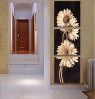 Wholesale Panel Hot Sell Modern Wall Painting flower Home Wall Art Cheap Picture Paint on Canvas Prints art chrysanthemum