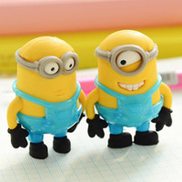 avatar rubber - set New Novelty Students Kids Cartoon Anime Minion Avatars Pencil Rubber Eraser Cute School Supplies A414