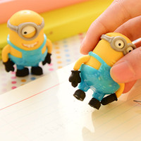 best pencil erasers - Cute Despicable Me Minions Cartoon Pencil Rubber Eraser Best Gift For Children