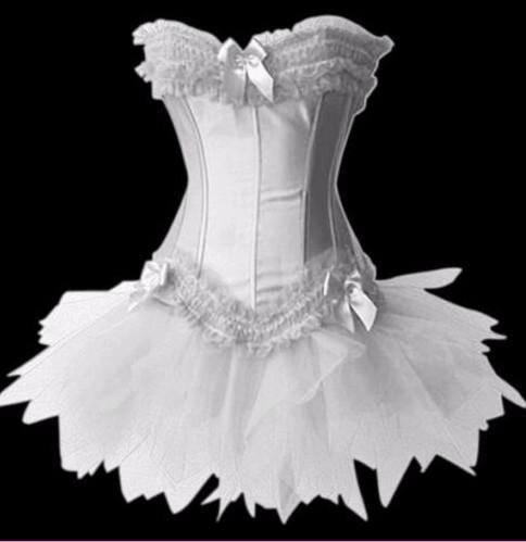 New wedding bridal lingerie corset bustier lace up tutu for Wedding dress corset bra